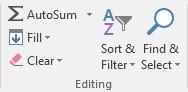 AutoSum on Home tab