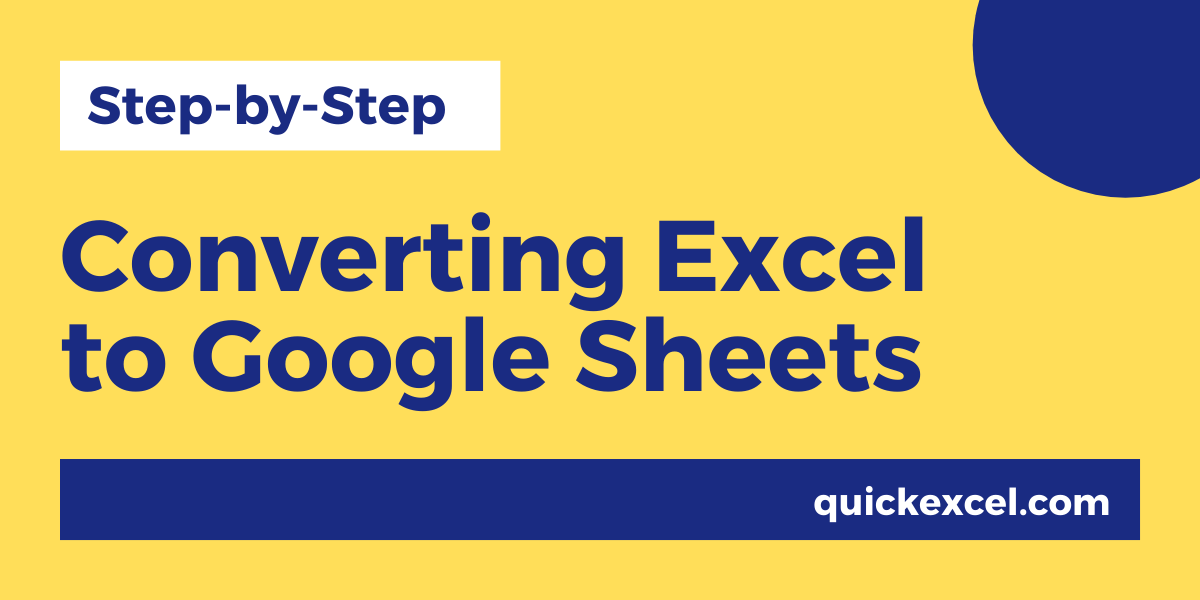 Converting Excel to Google Sheets
