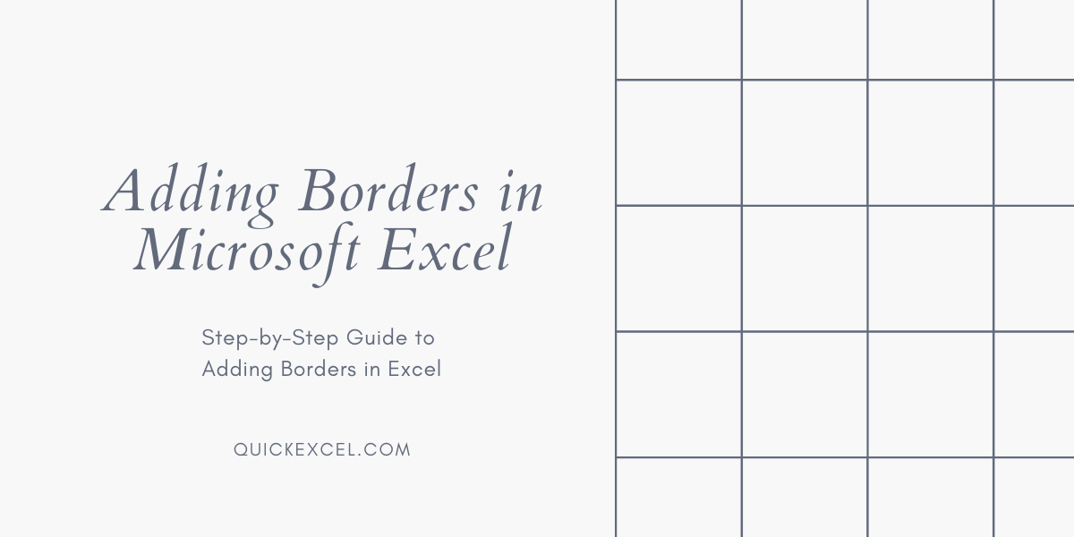 How to Add Borders in