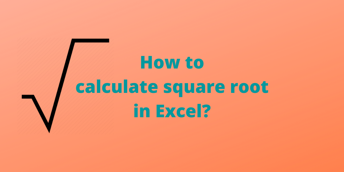 How to calculate square root in
