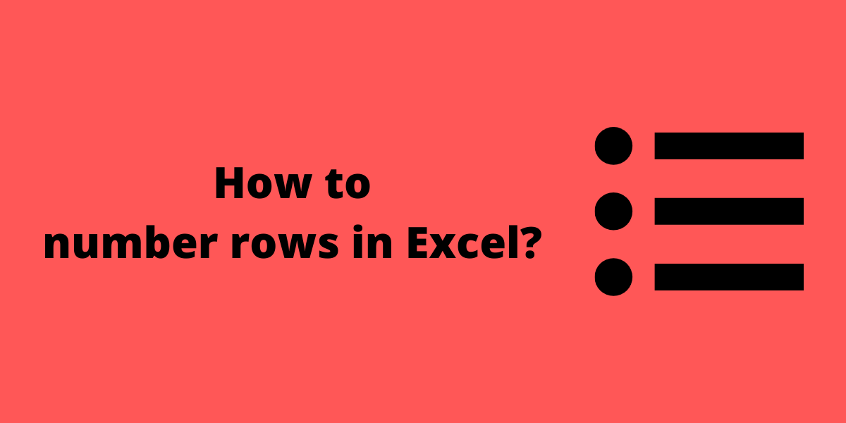 How to number rows in