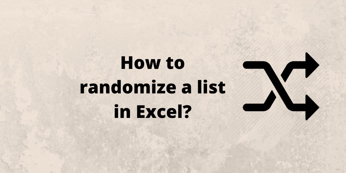 How to randomize a list in