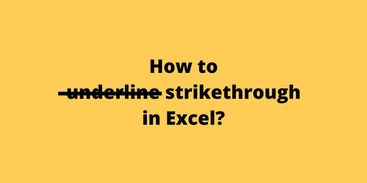 How to strikethrough in