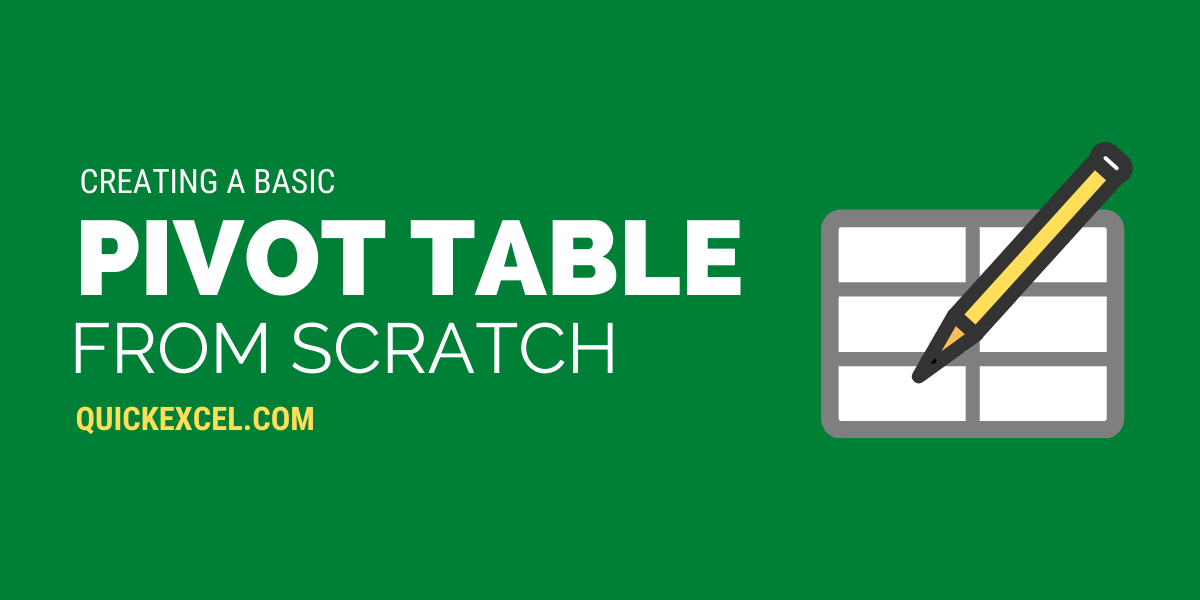 Creating Pivot Table