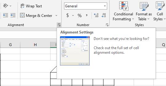 Alignment Settings