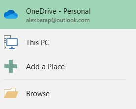 browse option