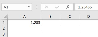 stop Excel from rounding numbers