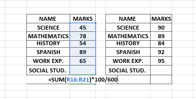 Finding Total Percentage