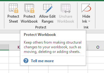 Protect Workbook Button