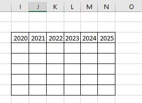 A simple table with headings