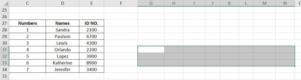 Horizontal Replica of Vertical Database Transpose Data in Excel