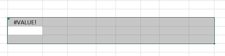 #VALUE! Error Transpose Data in Excel