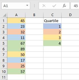 1st quartile 1
