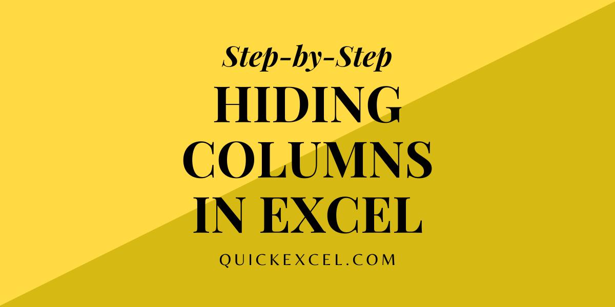 Hide columns in
