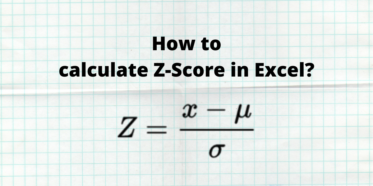How to calculate Z score in