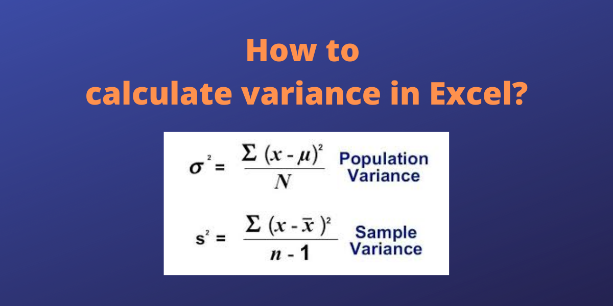 How to calculate variance in