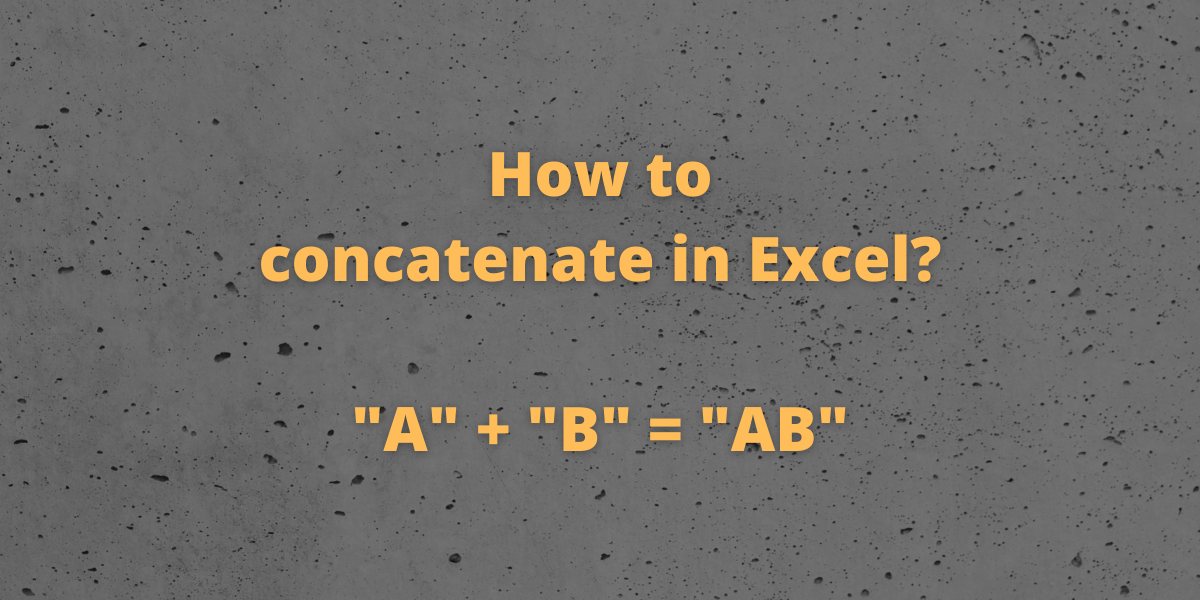 How to concatenate in