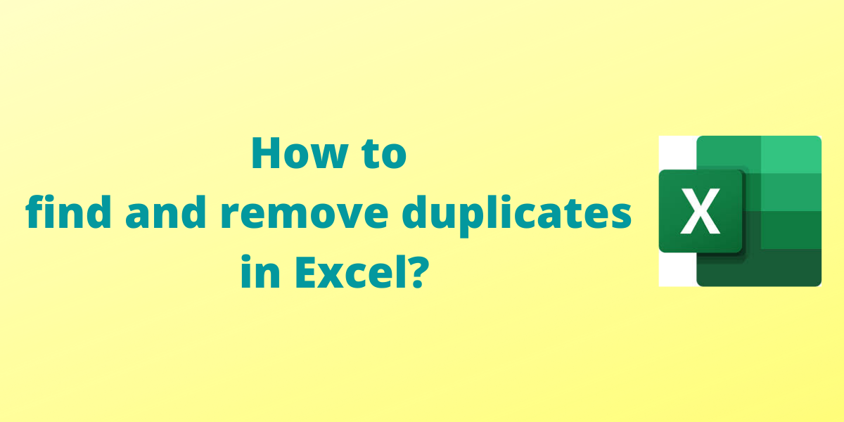 How to find and remove duplicates in