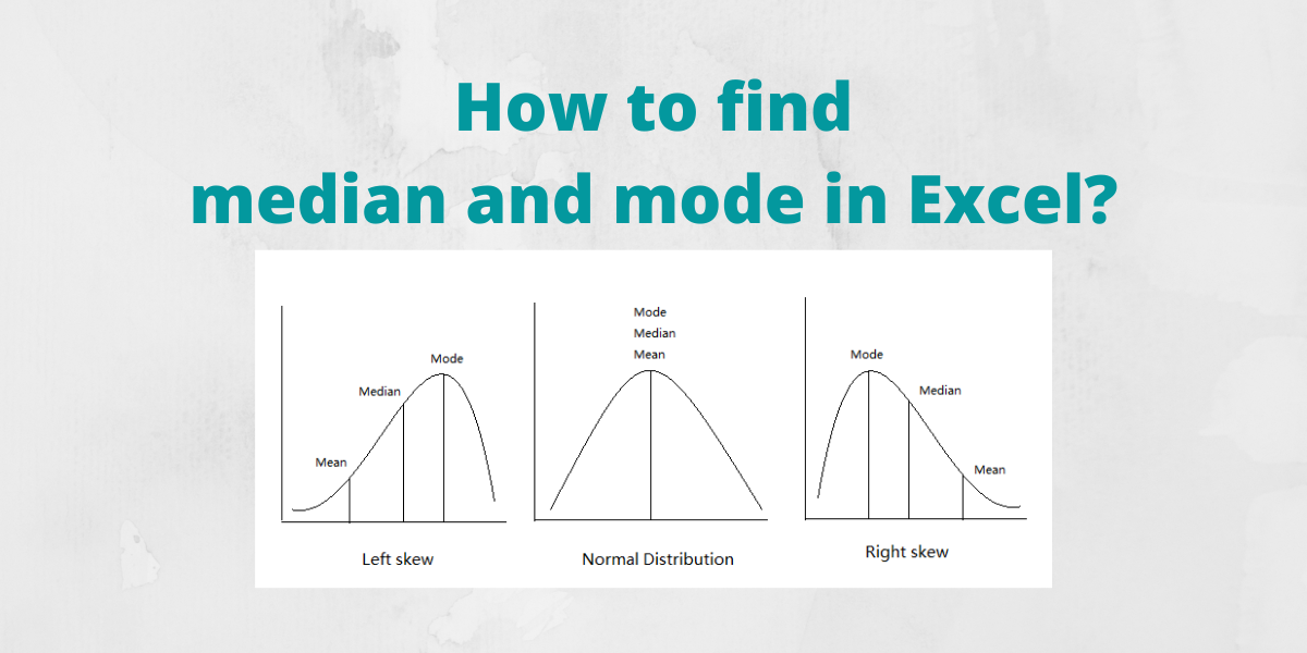 How to find median and mode in