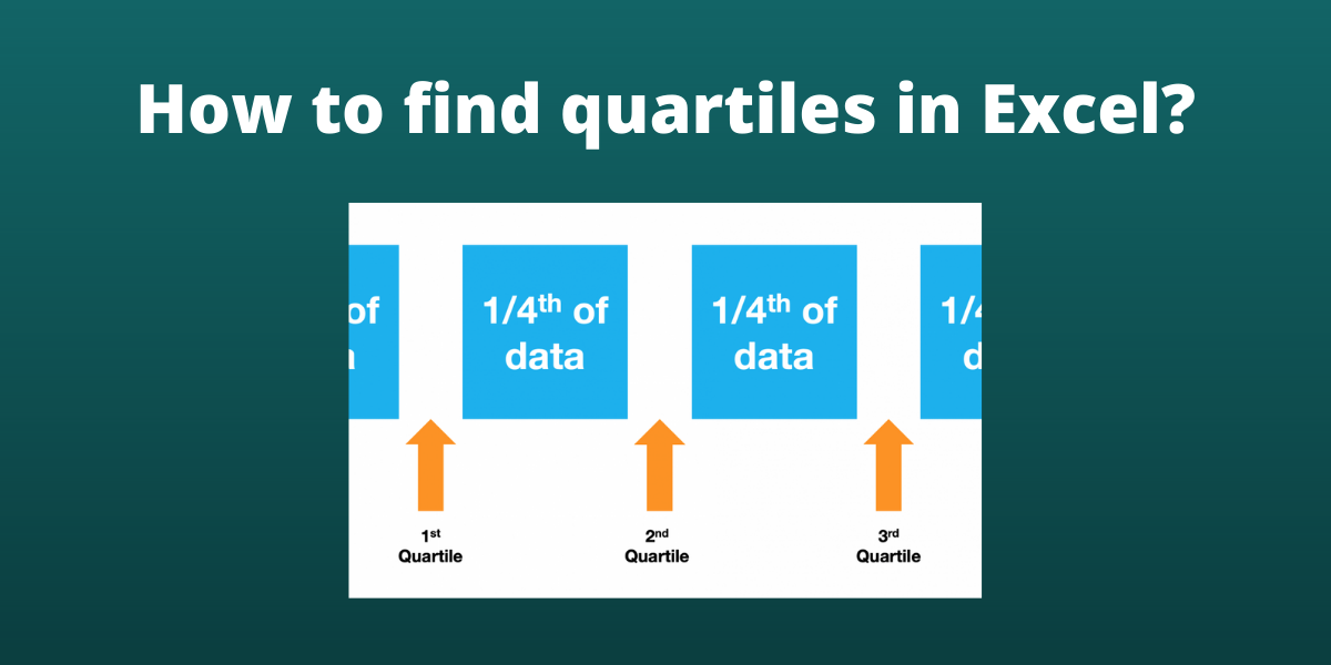 How to find quartiles in