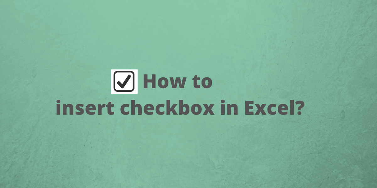 How to insert checkbox in