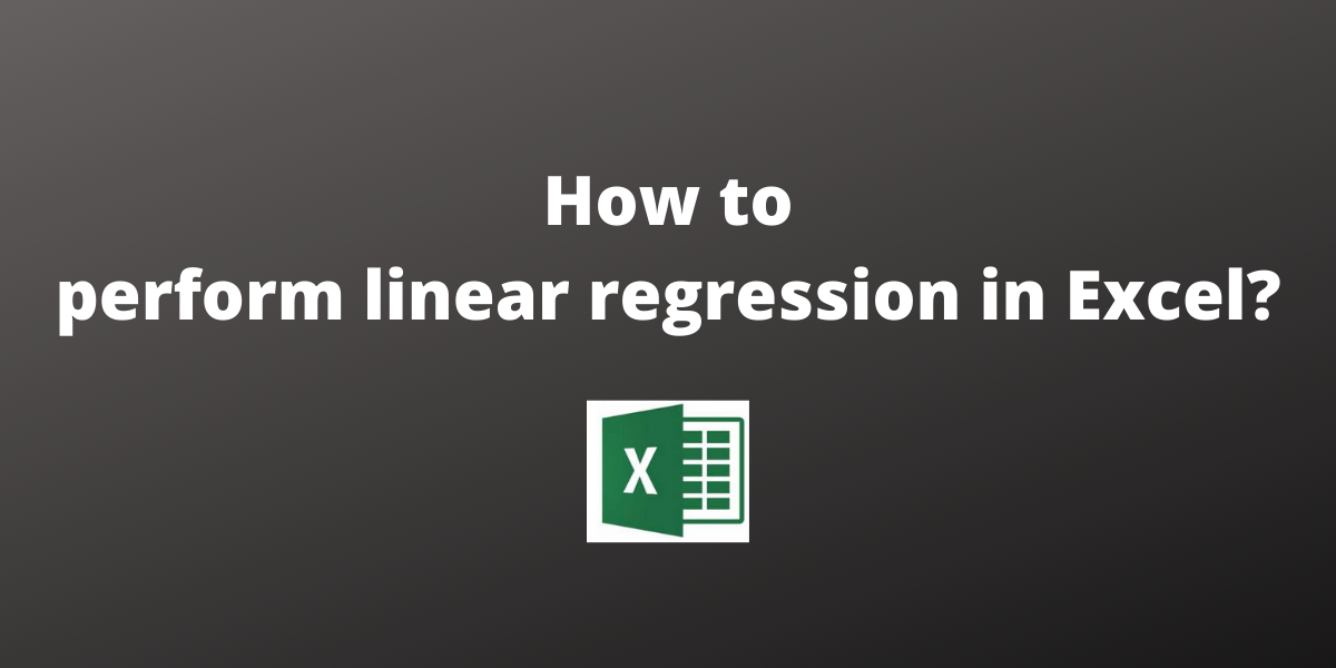 How to perform linear regression in