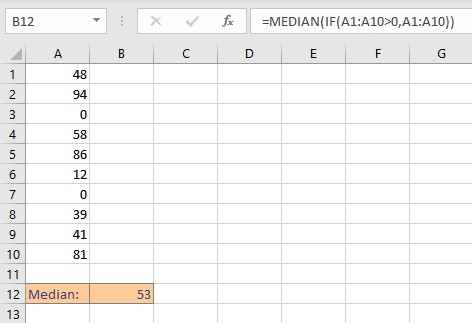 MEDIAN IF calculation