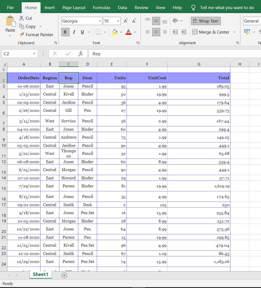 Print an Excel Spreadsheet