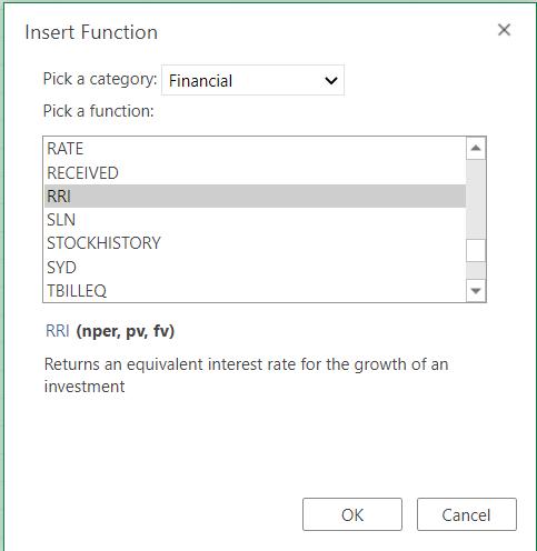 Selecting RRI Function