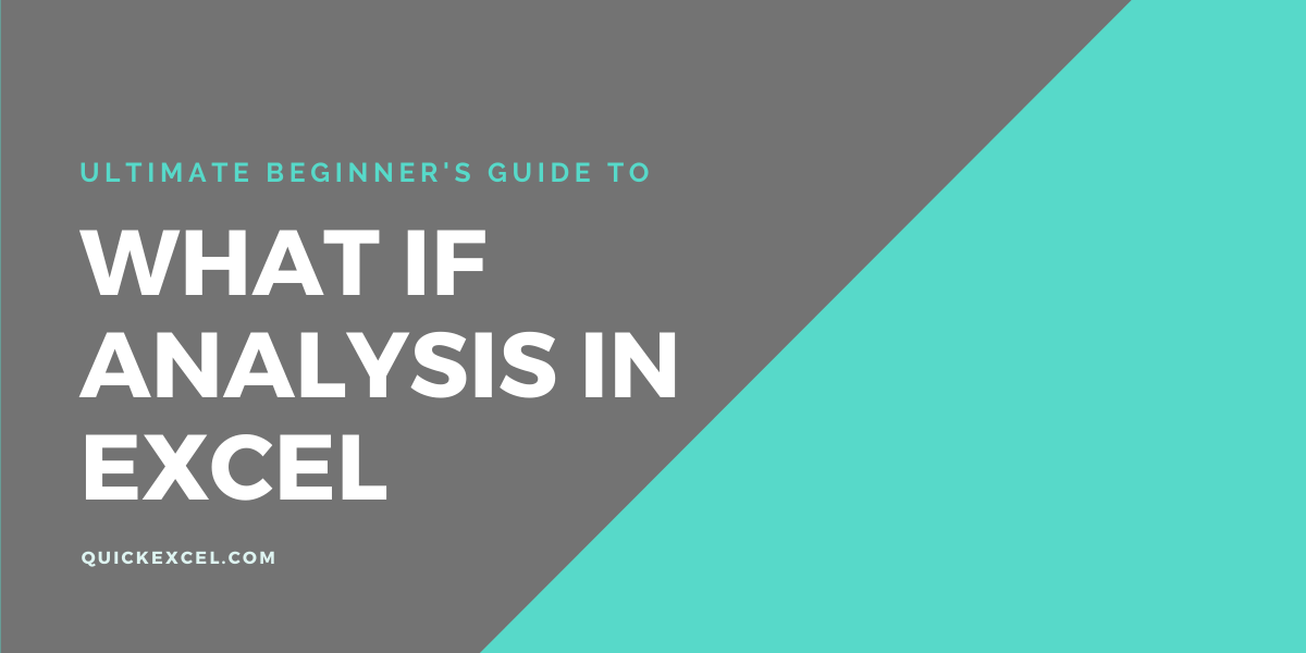 WHAT IF ANALYSIS IN EXCEL