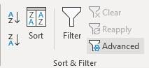 advanced sort filter