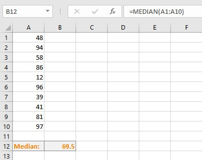 calculated median
