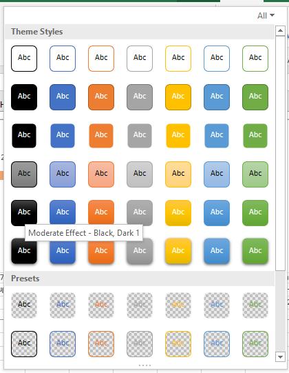 chart styles 1