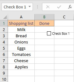 checkbox appears