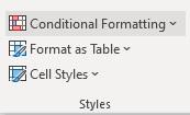 conditional formatting