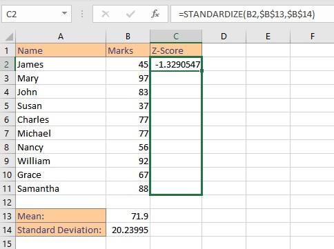 copy z score formula