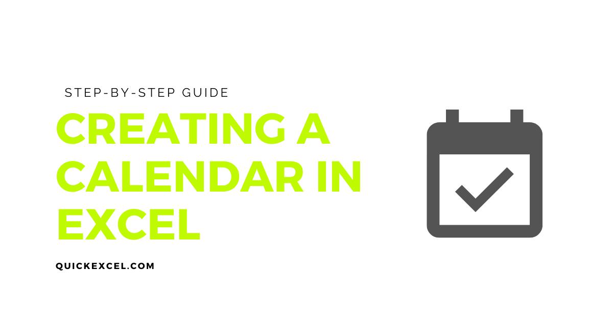 creating a calendar in