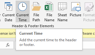 Current Time Button