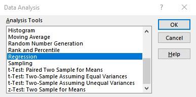 data analysis dialog
