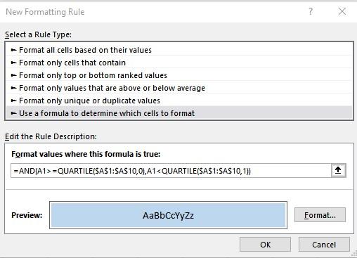 first quartile formula 1