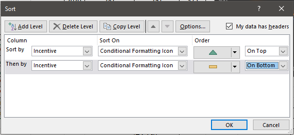 icon sorting