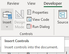 Add a Checkbox in Excel