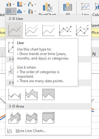 Line Graph Option