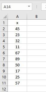 list of numbers