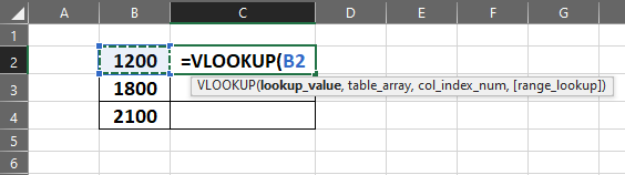 Lookup Value Selected in Function