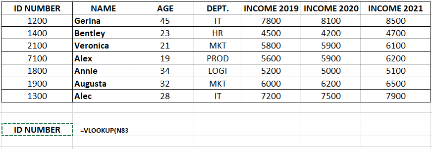 Lookup Value