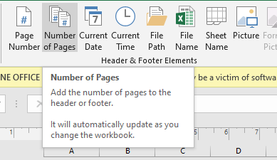Number of Pages Button