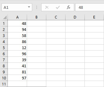 numbers for median calculation