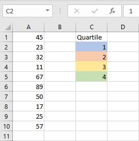 quartile color scheme