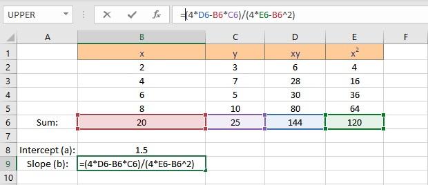 slope calculation